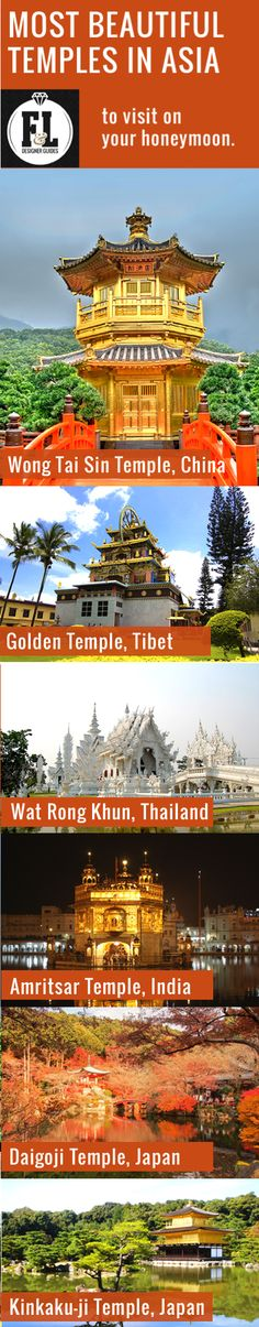 6 of the Most Beautiful #Temples in #Asia to visit on your #honeymoon! Also follow F&L Designer Guides on https://www.facebook.com/fldesignerhoneymoons !