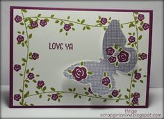 Stampin'UP! Floral Wings Love Ya