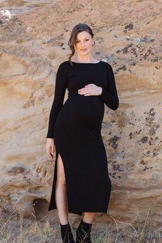 Luxe Rib Sheath maternity Dress | maternity fashion | maternity clothes | maternity dress | maternity outfit | maternity | #ad