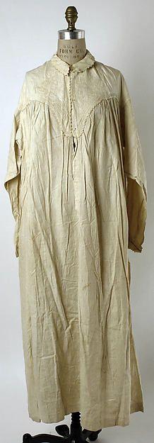 Nightgown Date: 1860s Culture: American Medium: linen