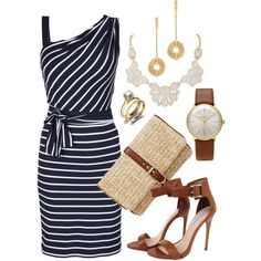 """Polyvore Striped Outfits   Striped Chic"""" by queenmdp on Polyvore"""