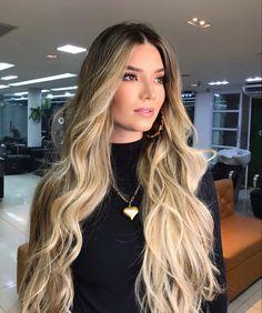 Wavy Hair, Dyed Hair, Blonde Hair, Black Hair With Blonde Highlights, Sleek Hairstyles, Beautiful Long Hair, Blonde Balayage, How To Make Hair, Hair Dos