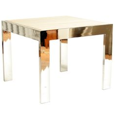 Vintage 1970s Pace Collection Chrome and Marble Table