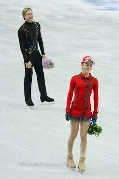 Yulia and Evgeni Ice Skating, Figure Skating, Yulia Lipnitskaya, Evgeni Plushenko, Ice Ice Baby, Olympians, Leotards, Skate, Russia