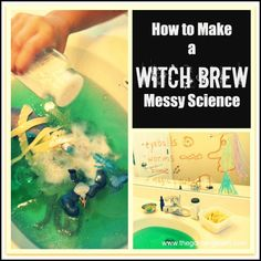 witch brew - fun Halloween sensory and science activity for kids