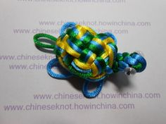 Several diffferent Step by step chinese knot creations. This is the Turtle using 3 colors.