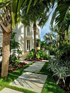 We all love a garden path, whether winding or straight. Neat as a pin or overgrown with plants, backyard garden paths lead our eye through a garden, and add charm and focus as well. However, building a walkway adds so… Continue Reading → Tropical Garden Design, Tropical Backyard, Tropical Home Decor, Tropical Houses, Tropical Interior, Tropical Gardens, Tropical Colors, Tropical Plants, Florida Landscaping
