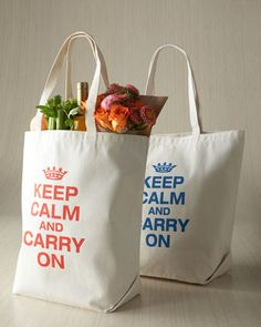 """""""Keep Calm & Carry On"""" Tote  at Neiman Marcus."""