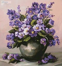DPF Diamond Embroidery grace flower wall Diamond Painting Cross Stitch Square diamond Mosaic kit Needlework home Decor picture Acrylic Flowers, Oil Painting Flowers, Watercolor Flowers, Painting & Drawing, Watercolor Art, Arte Floral, Sunflower Art, Flower Pictures, Flower Vases