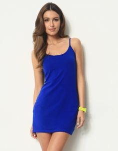 6707134d0cf17 BASIC SINGLET DRESS - LYCRA ROUND NECK BASIC STRAPPY SINGLET DRESS - Casual  Dresses