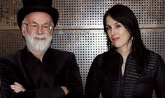 Rhianna Pratchett with her father, Sir Terry Pratchett.  (Sir Terry Pratchett remembered by his daughter, Rhianna Pratchett)