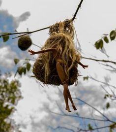 Barbie in a bird's nest