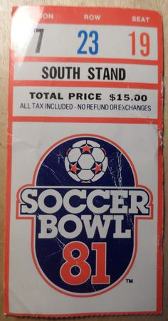 Toronto Blizzard 1981 Soccer Bowl Ticket Stub Canada Collecible Dominion Back VG From The Mighty Finwah Collection Safely Stored For Over 40 Years UNIQUE ITEMS FOR UNIQUE PEOPLE Shipping will be within 2 days of your payment All Sales are Guaranteed Satisfaction We are Fans so we know what fans Expect Ticket Stubs, All Sale, 40 Years, Toronto, Fans, Soccer, Canada, Unique, Sports