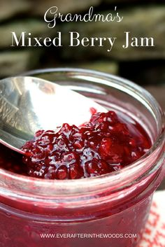 How To Make Mixed Berry Jam This was my first attempt at making jam and this recipe could not be easier. So if you are new to the canning game, this is the perfect recipe for you. Triple Berry Jam Recipe, Mixed Berry Jam Recipe With Pectin, Jam Recipes, Canning Recipes, Greek Recipes, Mixed Fruit, Mixed Berries, Jalapeno Jelly Recipes, Cranberry Jam