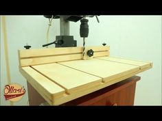 Making a Drill Press Table and Fence / Cheap and Easy - YouTube
