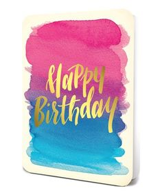 This 'Happy Birthday' Gold-Foil Card Set is perfect! #zulilyfinds