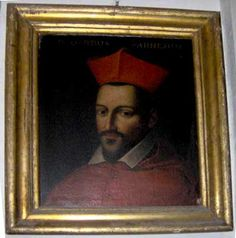 Cardinal Odoardo (1573-1626), brother of Ranuccio I, became cardinal in 1591.  He continued the Farnese's tradition of patronage, including the Il Gesu church and the famous frescos he comissioned from Carracci to decorate the Palazzo Farnese.  He became the family's last important cardinal.