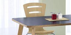 Stół MAGNUS wykonany se sklejki z czarnym blatem, Halmar - Meble
