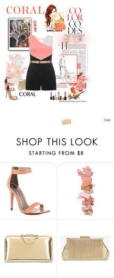 """Coral"" by joannahdawn ❤ liked on Polyvore featuring moda, Again, Michael Antonio, Chloé, Whiting & Davis, Garance Doré, Dorothy Perkins, women's clothing, women e female"