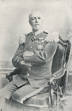 King Oscar II, king of Sweden  1872 til 1907. A photo from the late 1800s. Picture taken of Gösta Florman.