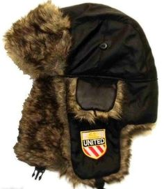 UNITED Trapper Hat with Manchester Shield
