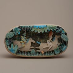 Sculpture by Michele Fabbricatore / Angelica inseguita Arte Popular, Clay Design, Ceramic Design, Ceramic Clay, Ceramic Pottery, Contemporary Ceramics, Horse Art, Ceramic Artists, Altered Art