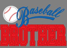 Baseball Brother Applique Machine Embroidery by EmbellishStar, $3.00