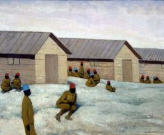 "tierradentro:  ""Senegalese Soldiers at the Camp of Mailly"", 1917, Félix Vallotton."