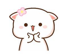 White and Grey cats Cute Anime Cat, Cute Bunny Cartoon, Cute Kawaii Animals, Cute Cartoon Pictures, Cute Love Pictures, Cute Love Cartoons, Cute Cat Gif, Cute Images, Cute Cats