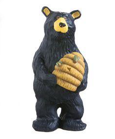 Love this Black Bear Holding Beehive Figurine on #zulily! #zulilyfinds