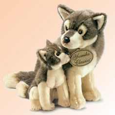 Russ Berrie Yomiko Classic Plush Wolf Mom and Baby Stuffed Animals, 10 inches tall Wolf Stuffed Animal, Baby Stuffed Animals, Plush Animals, Cute Animals, Wolf Plush, Little Live Pets, Baby Wolves, Bear Toy, Pet Toys