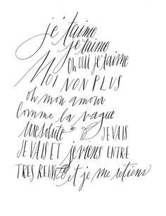 Fishwick Design calligraphy - Gainsbourg
