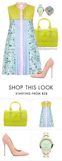 """""""Pastel"""" by efiaeemnxo ❤ liked on Polyvore featuring Furla, Jimmy Choo, Dorothy Perkins, pastel, SpringPastels, sbemnxo and styledbyemnxo"""