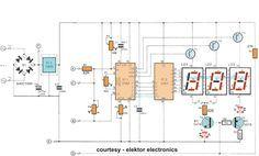 digital volt meter using pic 16f676 circuits mania electronics rh pinterest com Volt Meter Connection Volt Meter Tool