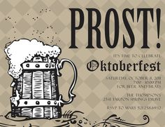 PRINTABLE Oktoberfest Party Invitation - Any Color