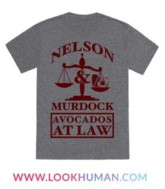 "Show off your love for comic books and your favorite lawyers of Hell's Kitchen with this nerdy design that says ""Nelson & Murdock Avocados At Law"" Perfect for the nerd, comics fan, geek or netflix binge watcher you know."