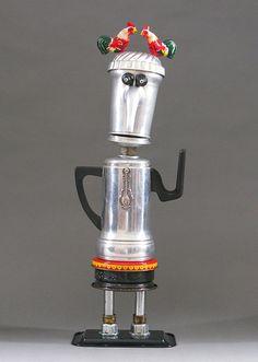 ROBOT SCULPTURE  Metal art sculpture Junk by CastOfCharacters23, $150.00
