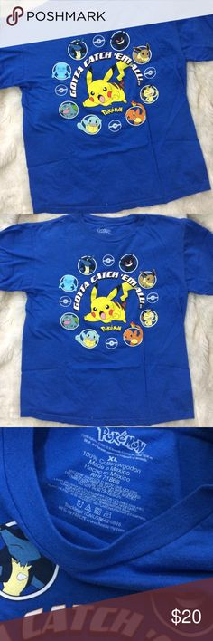 POKEMON GOTTA CATCH EM ALL TSHIRT Size XLarge youth Also Fits small womens. Good condition minimal wear. Tagged for views. FREE SURPRISE GIFT WITH EVERY ORDER! Urban Outfitters Shirts & Tops Tees - Short Sleeve