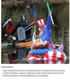 Pumpkin sailing for freedom is a (blood) sport. | 21 Totally True And Scientific Facts About America