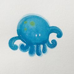 """0 Me gusta, 1 comentarios - Esther Maroto (@esther_maroto) en Instagram: """"Jalou darlings ☺ Sea friends #jalou_darling #cute #octopus #illustration #watercolor #esther…"""""""