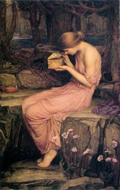John William Waterhouse, Psyche opening the golden box (1903) on ArtStack #john-william-waterhouse #art
