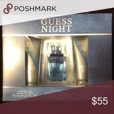 Guess Night Men's Cologne Gift Set Brand new in box guess night spray, shower gel & shave balm Guess Accessories
