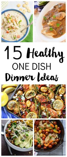 Get back on track this new year with healthy dinners. Here are lots of easy recipes that only require one dish to make. With simple recipes and less cleaning up to do, you can make a healthy dinner even on a busy night. Healthy Dinner Recipes, Simple Recipes, Cooking Recipes, Healthy Meals, Diabetic Meals, Diabetic Friendly, Healthy Dishes, One Dish Dinners, One Pot Meals
