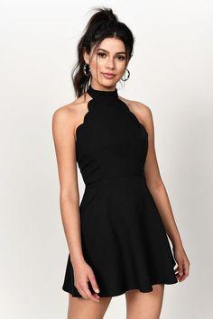 Pretty Black Dresses, Cute Black Dress, Black Dress Outfits, Simple Black Dress, Sexy Dresses, Cute Dresses, Casual Outfits, Vintage Dresses, Grad Dresses Short