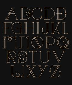 29 Eye-Catching Art Deco Fonts | Web & Graphic Design | Bashooka