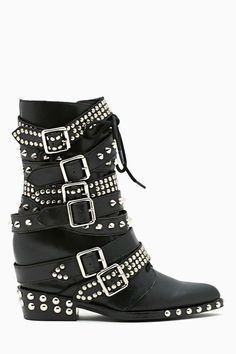 fd9e8a32bdfc Jeffrey Campbell Draco Strapped Stud Boot