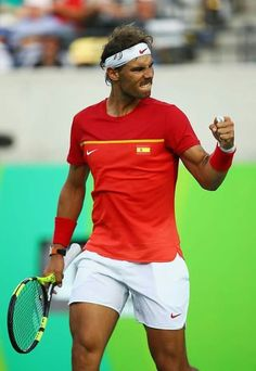 Rafa gets the win over Bellucci, 2-6, 6-4, 6-2, reaches the medal round AND…