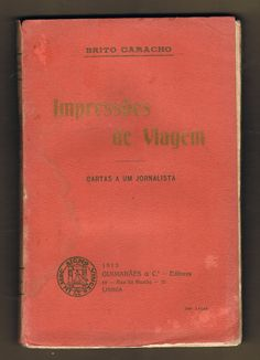 Impressões de Viagem | VITALIVROS // Livros usados, raros & antigos //