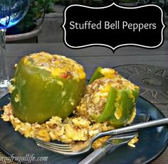 Easy Stuffed Pepper Recipe--I'm planning to do a version of this this weekend. I'm craving it.