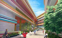 A escola primária de Nanyang, em Singapura, tem chamado atenção das crianças e adultos pelo mundo todo por conta de sua arquitetura colorida e moderna.